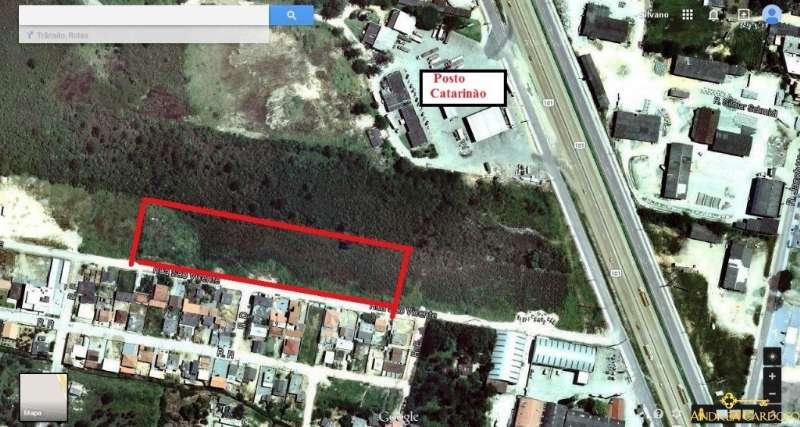 Terreno no bairro Aririú em Palhoça